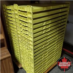 2 Stacks Cooling Trays (Yellow) (40)