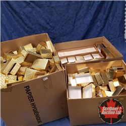 "3 Box Lots - Packaging: Gold Bottoms (Many!) 2-3/4"" x 4"""