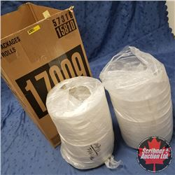 "Box Lot - Packaging (40) : 10"" Round Clear Plastic - 4 Section"