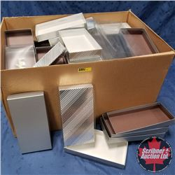 "Box Lot - Packaging : 9"" x 4-3/4"" x 1"" Variety Silver Boxes"