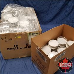 "Packaging - Round Plastic Clear White Bottom 4"" x 1"" (285+)"