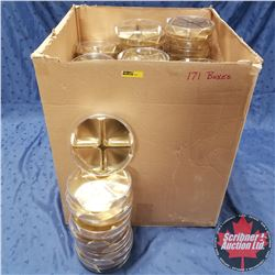 "Packaging :(171)  Clear / Gold Round 4 Section (6"" x 1"")"