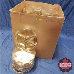 "Packaging :(67)  Clear / Gold Round 6 Section (9"" x 1"")"