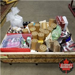 Crate Lot: Opened or Past Due Food or Chocolate Items (Colorant, Flavoring, Decorations, Cocoa Powde