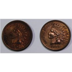 1891 AND 1909 INDIAN CENTS