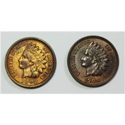 1892 AND 1908 INDIAN CENTS