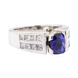 2.05 ctw Sapphire And Diamond Ring - Platinum