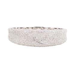 10.70 ctw Diamond Bangle Bracelet - 14KT White Gold