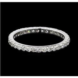 0.50 ctw Diamond Eternity Ring - 14KT White Gold