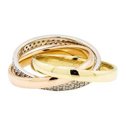 0.59 ctw Diamond Ring - 14KT Yellow, White, And Rose Gold