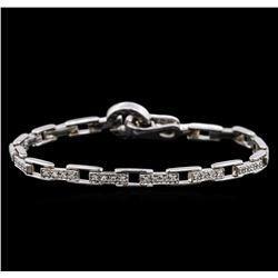 14KT White Gold 0.72 ctw Diamond Bracelet