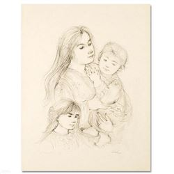 Robert with Mother and Sister by Hibel (1917-2014)