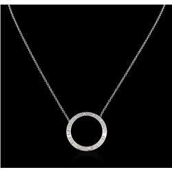 0.50 ctw Diamond Necklace - 14KT White Gold
