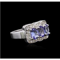 14KT White Gold 2.52 ctw Tanzanite and Diamond Ring