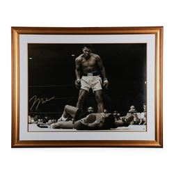 """Ali's Knockout Punch"" autographed lithograph"