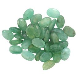 17.39 ctw Oval Mixed Emerald Parcel