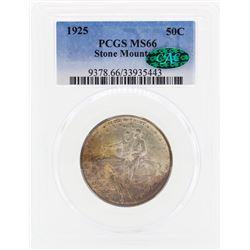 1925 Stone Mountain Commemorative Half Dollar Coin PCGS MS66 CAC