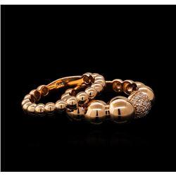 0.16 ctw Diamond Ring Set - 14KT Rose Gold