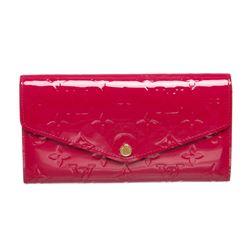 Louis Vuitton Indian Rose Vernis Monogram Sarah Wallet