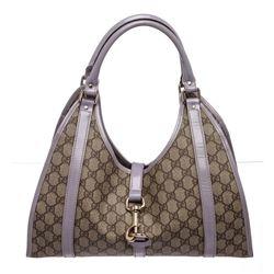 Gucci Beige Crystal Coated Canvas Joy Bardot Tote Bag
