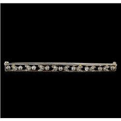 0.42 ctw Diamond Brooch - Platinum