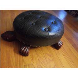 UNIQUE LEATHER DECORATIVE TURTLE OTTOMAN/FOOT STOOL