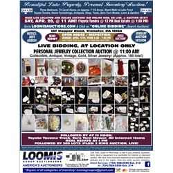 APPROX 100 LOTS OF JEWELRY AUCTION AT LOCATION