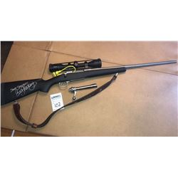 """MONTANA RIFLE MODEL 1999 w ZEISS CONQUEST SCOPE/ *SIGNED BY EVA SHOCKEY """"SHOOT STRAIGHT""""*"""