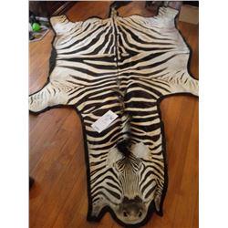 AFRICAN ZEBRA HIDE/RUG EXCEPTIONAL SIZE & GRADE