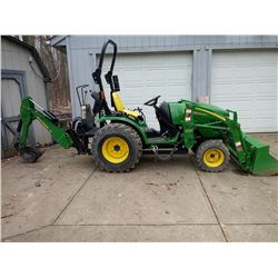 JOHN DEERE 2520 TRACTOR LOADER BACKHOE / 65 HOURS