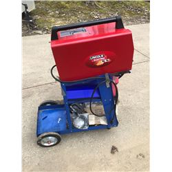 LINCOLN MIG PACK WELDER / STAND / INVENTORY/ LOOKS NEW