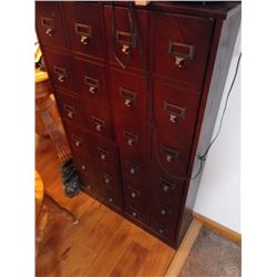 VINTAGE/ REPRODUCTION  GENERAL STORE/ ART  CABINET