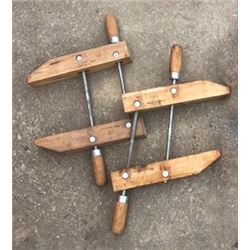 PAIR OF WOOD CLAMPS