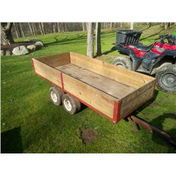 TANDEM AXLE DUMP TRAILER / PULL HITCH
