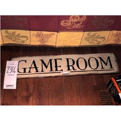 """""""GAME ROOM"""" WOODEN SIGN"""