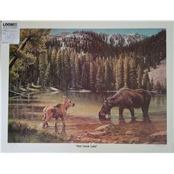 "UNFRAMED ART ""HAT CREEK LAKE"" BY BARB PEETS 1986"