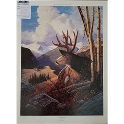"UNFRAMED ART ""FALL RITUAL"" BY TOM MANSANAREZ 1994 SIGNED ARTIST PROOF"