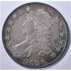 1828 BUST HALF DOLLAR, AU