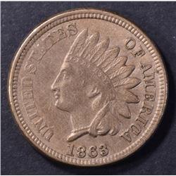 1863 INDIAN HEAD CENT, AU