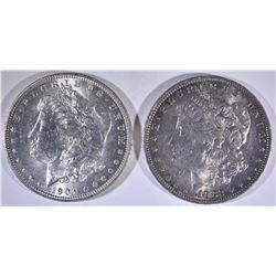 1882-O BU & 1904-O CH BU MORGANS