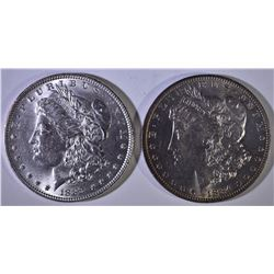 1884-O & 1889 MORGAN DOLLARS