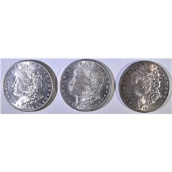 1880-S, 1882-S, 1886 MORGAN DOLLARS