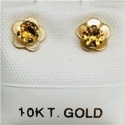 10K CITRINE (0.3ct) EARRINGS