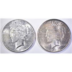 1922 & 1923-S PEACE DOLLARS