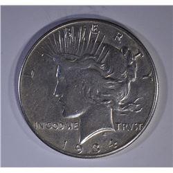 1934-S PEACE DOLLAR  XF/AU