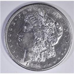 1886-S MORGAN DOLLAR  AU/BU