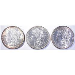1881-S, 82 & 86 CH BU MORGAN DOLLARS