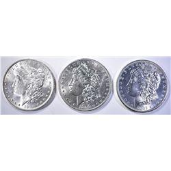 1882-S, 96 & 98 CH BU MORGAN DOLLARS