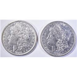 1879 & 1890-O MORGAN DOLLARS AU BETTER DATES