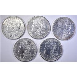 5-BU MORGAN DOLLARS: